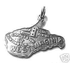 west virginia state map usa silver charm by princeofdiamonds, $17.43