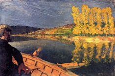 """ Edouard Vuillard, Boating (The Ferryman) - 1897 """
