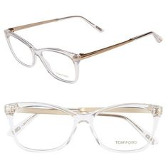 0c424afd58bd6a Tom Ford 54mm Optical Glasses (1,615 SAR) ❤ liked on Polyvore featuring  accessories, eyewear, eyeglasses, crystal, tom ford eyeglasses, tom ford  glasses, ...