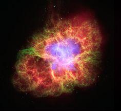 Der Krebsnebel ist der Überrest einer Supernova aus dem Jahr 1054.