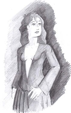 """""""The Lady"""" - pencil on paper November 26th, 2014. Was supposed to be drawing a page; got this, instead. #SketchDaily"""