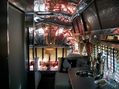 An amazing late '50's Airstream interior seen at the 2012 Tin Can Tourist's Annual Meeting in Milford, MI.