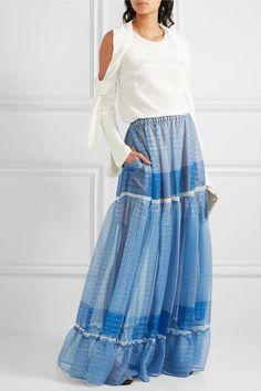 Multicolored silk-blend chiffon Slips on  96% silk, 4% elastane; lining: 100% silk Dry clean Imported