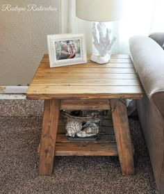 Rustique Restoration Farmhouse End Table DIY
