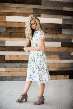 floral, floral dress, hair, blonde hair, mothers day, sunday dress, style, fashion, spring, spring dress