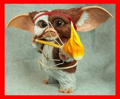 LOVELY MOGWAI Life Size Gremlins Gizmo as Rambo resin model kit , diy model for Hobbies Collectibles gremlins sculpture Fast Ship Weird Creatures, Fantasy Creatures, Gremlins Gizmo, Predator Alien, Aliens Movie, All Things Cute, Movie Props, Figurative Art, Sculpture Art