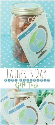 Father's Day Printable Gift Tag perfect for adding to a gift for Dad or Grandpa KristenDuke.com
