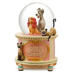 Lady and the Tramp hatbox snowglobe