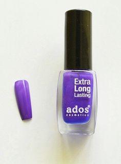 Дълготраен лак за нокти Ados 551 в лилаво - син цвят. Идеално покритие само с едно нанасяне