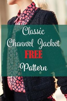 DIY Chanel Style Jacket FREE Pattern
