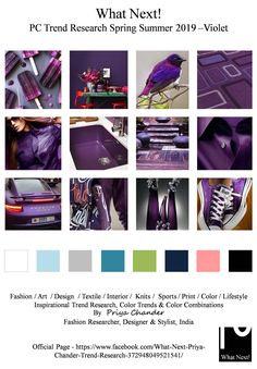 S/S 219 fashion colors trends: violet Spring Summer Trends, Spring Fashion Trends, Fashion Colours, Colorful Fashion, Ad Fashion, Fashion Design, Fashion Boots, Color Trends 2018, Winter Typ