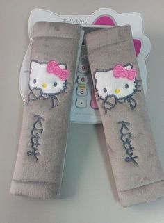 Hello Kitty Baby Seat Belt Strap Covers Harness Pads Car Highchair Stroller Gray