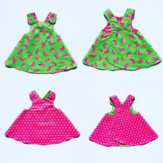 Getting ready for spring and adding new reversible sundresses to my shop!