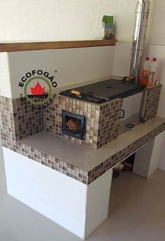 Imagens - Fogão a lenha ecológico Ecofogão Kitchen Stove, Stove Oven, Open Kitchen, Pizza Oven Fireplace, Stove Fireplace, Pizza Four, Home Decor Kitchen, Kitchen Design, Stoves Cookers