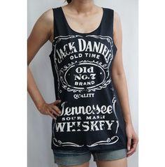 Jack Daniel's Whiskey Old No.7 Vest T-shirt Tank Tops