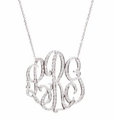 Luxe Omiya Diamond Monogram Necklace - SILVER OR GOLD - GirlyTwirly.com