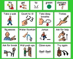 "Zones of Regulation ""Get to Green"" Calming Strategies Visual Zones Of Regulation, Emotional Regulation, Self Regulation, Coping Skills, Social Skills, Life Skills, Behavior Interventions, School Social Work, Behaviour Management"
