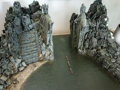 Argonath Diorama Lord of the Rings 2016. Custom made...