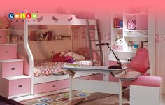 Stylized bedroom units for the little princess or prince. More info about Childspace units Plz. visit http://www.childspace.co.in/ or call @ 09740377553.