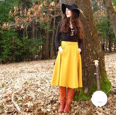 #yellow #skirt #vintage