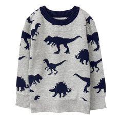 1d4d1c622 GYMBOREE: Toddler Boy Heather Grey Dino Sweater by Gymboree Oblečenie Pre  Batoľatá, Odevy Pre
