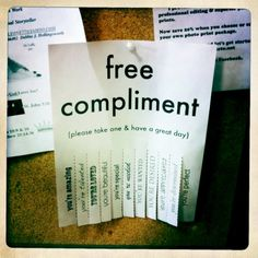 What a sweet idea: Putting some good karma out into the world via bulletin boards :)