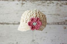 Gorros de crochet para bebé hechos a mano http://www.minimoda.es