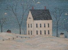 """Winter House"" by Warren Kimble"