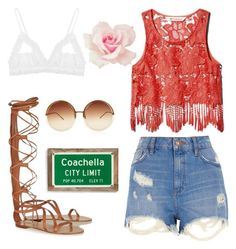 """Coachella"" by maybellefoster ❤ liked on Polyvore featuring Jason Wu, River Island, Hanky Panky, Linda Farrow and Poncho & Goldstein"