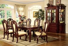 Tips for purchasing traditional dining room sets – Designalls Country Dining Rooms, Wooden Dining Room Furniture, Dining Room Victorian, Dining Room Updates, Dining Room Design, Elegant Dining, Formal Dining Room Sets, Dining Table Legs, Modern Dining Room