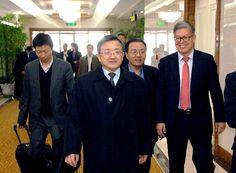 조중국경공동위원회 제3차회의에 참가할 중국대표단 도착-《조선의 오늘》