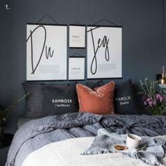 Soverom inspirasjon - 5 tips - Pictureit.no, Soverom inspirasjon - 5 tips - Pictureit.no. Linen Bedroom, Cozy Bedroom, Room Decor Bedroom, Bedroom Color Schemes, Bedroom Colors, Sofa Design, Ikea Bedroom Design, Gallery Wall Bedroom, Trendy Bedroom