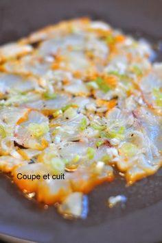 Carpaccio de haddock au citron vert