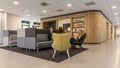 Interieur kantoor GGD Noord- en Oost Gelderland Warnsveld door Studio Groen+Schild