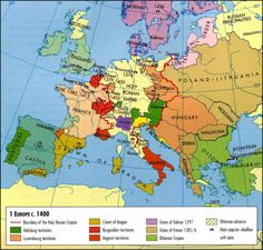 Europe in the Middle Ages European History, World History, Ancient History, Old World Maps, Old Maps, Renaissance, Geography Map, Historia Universal, Historical Maps