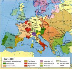 Europe Map, c.1400 #map #europe #travel #bust #love #fun #apps #adventure #livelifetoitsfullest #bliss #joy