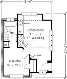 images about small house plans on Pinterest   Montgomery    Floor Plans AFLFPW   Story English Cottage Home   Bedroom  Bathroom and total Square Feet