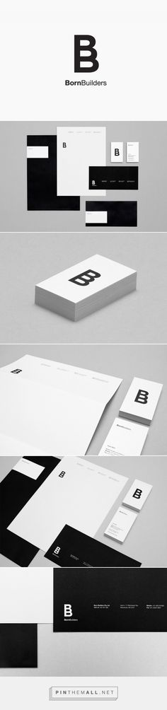 New Brand Identity for Born Builders by The Drop Studio - BP&O - created via http://pinthemall.net