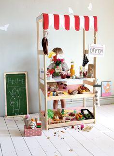 kaufladen marktstand kaufmannsladen selber bauen selbst gebaut diy kaufladen pinterest. Black Bedroom Furniture Sets. Home Design Ideas