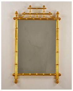 21x34   Horner Bamboo Mirror | Carvers' Guild