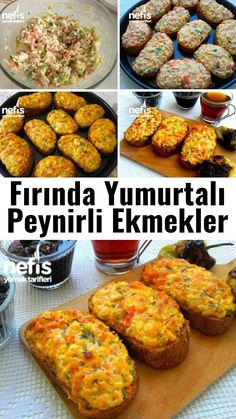 Cheese Breads with Baked Eggs Kitchen Rose Yummy Y Fırında Yumurtalı Vid – Vejeteryan yemek tarifleri – The Most Practical and Easy Recipes Portuguese Recipes, Turkish Recipes, Ethnic Recipes, Best Appetizers, Appetizer Recipes, Baking Recipes, Healthy Recipes, Cheese Bread, Breakfast Items