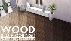 Simsational designs: Wood Slat Flooring and Walls • Sims 4 Downloads