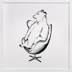 Egg Chair Bear by Flume Design at minted.com