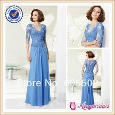 SA4021 Light blue sexy mother of the bride dresses with sleeves