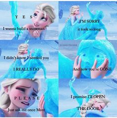 Frozen ~ Elsa and Anna Do you wanna build a snowman?