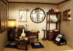(dollhouse room)  The orient traditional room (No.1)- asian old things, antiques