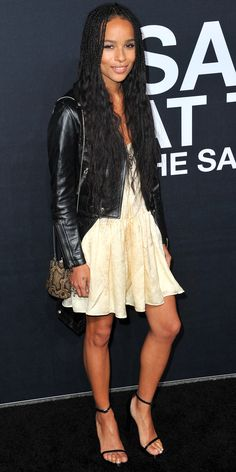 8 Badass Style Lessons You Can Learn from Zoe Kravitz - Lesson: Find a Balance Between Girly and Edgy - from InStyle.com
