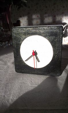 Concrete clock BW