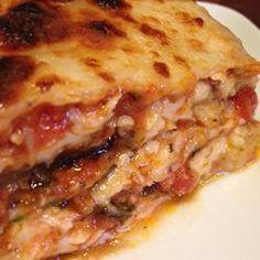 Lasagne d'aubergine!