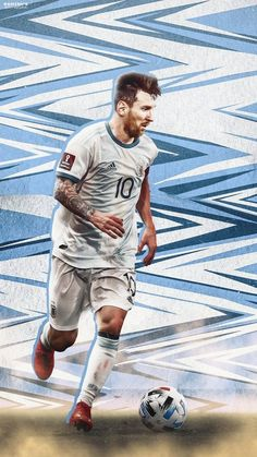 Messi And Ronaldo, Messi 10, Cristiano Ronaldo, Football Player Costume, Messi Argentina, Lionel Messi Wallpapers, Uefa Champions, Football Design, Football Wallpaper